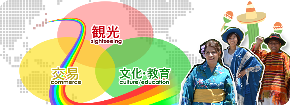 経済、文化・教育、観光の面で日本とラテンアメリカの懸け橋になる図